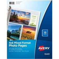 "AVE 13401 Avery Landscape 4""x6"" Photo Pages AVE13401"
