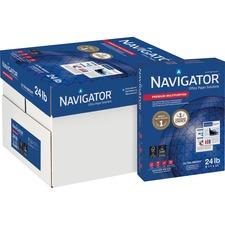 "Navigator NMP1124 Copy & Multipurpose Paper - Letter - 8.50"" x 11"" - 24 lb - 99 Brightness - 5000 / Carton - White"
