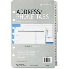 FDP 27222 Franklin A-Z Tabbed Address/Phone Pages FDP27222