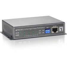 LevelOne FSW-0513 4-Ports Fast Ethernet High Power PoE Switch (120W)