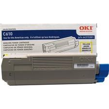 Oki Original Toner Cartridge - LED - 6000 Pages - Yellow - 1 Each