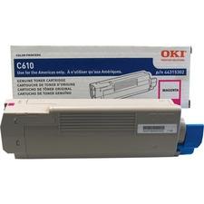 Oki Original Toner Cartridge - LED - 6000 Pages - Magenta - 1 Each