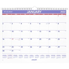 AAG PM828 At-A-Glance 1PPM Recycled Monthly Wall Calendar  AAGPM828