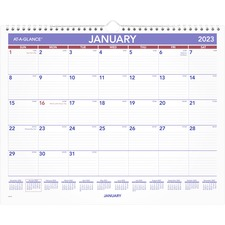 "At-A-Glance Monthly Wall Calendar - Yes - Monthly - 1 Year - January 2020 till December 2020 - 1 Month Single Page Layout - 15"" x 12"" - Wire Bound - Wall Mountable - Paper, Chipboard - Hanging Loop"