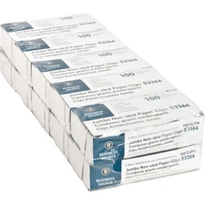 Business Source 1000 Jumbo Non-skid Paper Clips