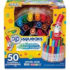 CYO 588750 Crayola 50ct. Pip-Squeaks Telescoping Marker Tower CYO588750