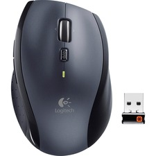 Logitech M705 Marathon Wireless Laser Mouse - Laser - Wireless - 2.40 GHz - Silver - 1 Pack - USB - 1000 dpi - Scroll Wheel - 8 Button(s) - Right-handed Only