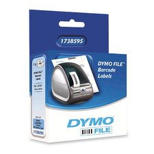 DYMO File Black on White Barcode Labels, 1 Roll
