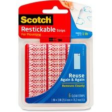 MMM R101 3M Scotch Restickable Clear Strips MMMR101
