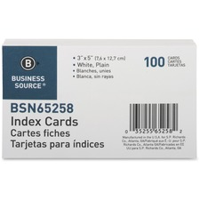 BSN 65258 Bus. Source Plain Index Cards BSN65258