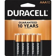 Duracell CopperTop MN1500B10Z General Purpose Battery - AAA - Alkaline Manganese Dioxide - 1.5V DC