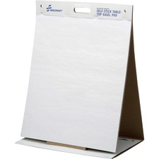 """SKILCRAFT 7530-01-577-2170 Self-Stick Easel Pad - 20 Sheets - Plain - 20"""" x 23"""" - White Paper - Resist Bleed-through, Easy Tear, Repositionable, Self-adhesive - Recycled - 20 / Pad"""