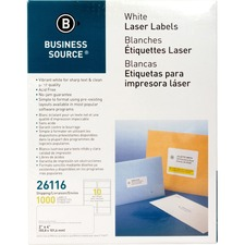 "BSN 26116 Bus. Source 2""x4"" Address Laser Labels BSN26116"