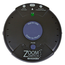 ZoomSwitch ZMS20-UC Headset Adapter for Phone and PC with Vol. and Mute