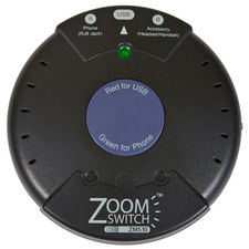 ZoomSwitch ZMS10 Headset Adapter for Phone and PC