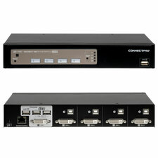 Connectpro UD-14+KIT 4-port DVI KVM with Cables
