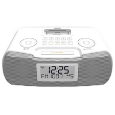 Sangean RCR-10 Desktop Clock Radio - 8 W RMS - Stereo - Apple Dock Interface