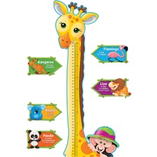 TEP T8176 Trend Giraffe Growth Chart Bulletin Board Set TEPT8176