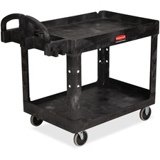RCP 452088BK Rubbermaid Heavy-duty Two-tiered Utility Cart RCP452088BK