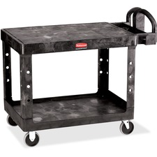 RCP 452500BK Rubbermaid Comm. HD Flat Shelf Utility Cart  RCP452500BK