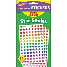 TEP T46917 Trend Super Shapes Star Smiles Stickers TEPT46917
