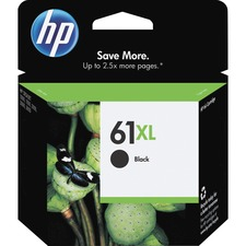 HP 61XL Original Ink Cartridge - Inkjet - 480 Pages - Black - 1 Each