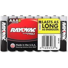 RAY ALAAA8J Rayovac Ultra Pro Alkaline AAA Batteries RAYALAAA8J