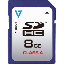 V7 VASDH8GCL4R-1N 8 GB Secure Digital High Capacity (SDHC)