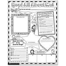 """Scholastic Teach Res. Read About Me Poster - Motivation - 17"""" Width x 22"""" Height"""