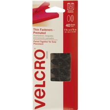 VEK 91385 VELCRO Brand Black Wafer-thin Fasteners VEK91385