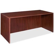 "Lorell Essentials Rectangular Desk Shell - 70.9"" x 35.6"" x 29.5"" x 1"" - Finish: Laminate, Mahogany"