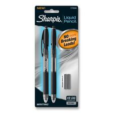 Sharpie Lquid Mechanical Pencil - Lead Size: 0.5mm - Lead Color: Black - Barrel Color: Clear - 2 / Pack