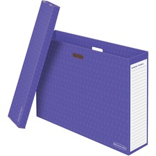 FEL 3380001 Fellowes Bankers Box Purple Chart Storage Box FEL3380001