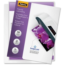 Fellowes Glossy Pouches - Letter, 3mil, 150Pack