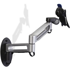 """Balt 66582 Mounting Arm for Flat Panel Display - 23"""" Screen Support - 30 lb Load Capacity - Steel, Plastic - Gray, Black"""