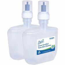 Scott Essential Green Certified Foam Skin Cleanser - Foam - 1.27 quart - Applicable on Hand - Dye-free, Fragrance-free - 2 / Carton