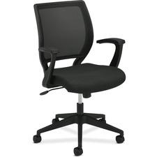 BSX VL521VA10 Basyx VL521 Mid-Back Fixed Arms Mesh Chair BSXVL521VA10