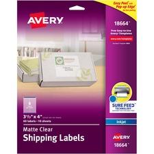 AVE 18664 Avery Easy Peel Inkjet Printer Mailing Labels AVE18664