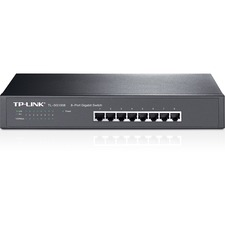 TP-LINK TL-SG1008 8-Port 10/100/1000Mbps Gigabit 13-inch Rackmountable Switch, 16Gbps Capacity