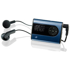 GPX MW240BU 2 GB Flash MP3 Player - Blue