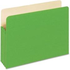"PFX 1524EGRE Pendaflex 3-1/2"" Expansion Colored File Pockets PFX1524EGRE"
