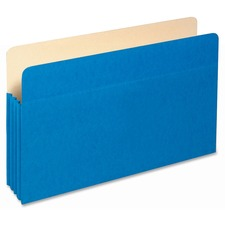 "PFX 1526EBLU Pendaflex 3-1/2"" Expansion Colored File Pockets PFX1526EBLU"