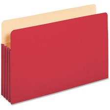 "PFX 1526ERED Pendaflex 3-1/2"" Expansion Colored File Pockets PFX1526ERED"