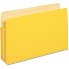 "PFX 1526EYEL Pendaflex 3-1/2"" Expansion Colored File Pockets PFX1526EYEL"