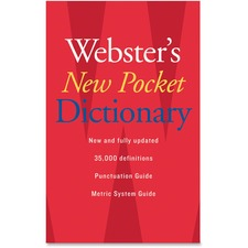 HOU 1019934 Houghton Mifflin Webster's New Pocket Dictionary HOU1019934