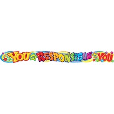 TEP T25047 Trend You Are Responsible 10-ft. Color Banner TEPT25047