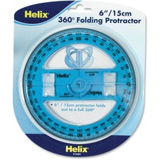 "HLX 12081 Helix 6"" 360 Degree Folding Protractor HLX12081"