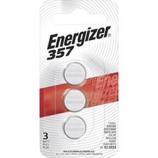 Eveready 357BPZ3 Batteries, f/Watch/Calculator, 1.5 Volt, 3/PK, Red/Black, EVE357BPZ3, EVE 357BPZ3