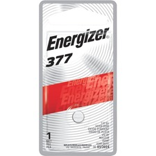 Eveready 377BPZ Miniature Battery, f/Electronic Watch, 1.55Volt, Silver, EVE377BPZ, EVE 377BPZ
