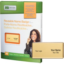 IPP 3386 Imprint Plus Reusable Name Badge System IPP3386